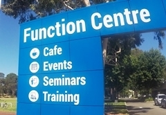 Front of Function Centre, Hayman Road Side.